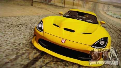 Dodge Viper SRT 2013 для GTA San Andreas вид справа