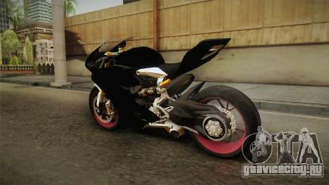 Ducati 1299 Panigale S 2016 Anniversary для GTA San Andreas вид справа