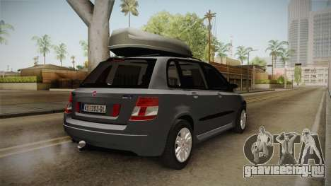 Fiat Stilo Weekend для GTA San Andreas вид сзади слева