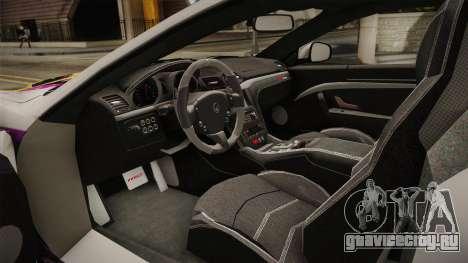 Maserati GranTurismo 2014 GOODSMILE Racing для GTA San Andreas вид изнутри