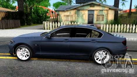 BMW 520d F10 2012 для GTA San Andreas вид слева