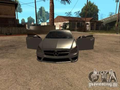 Mercedes-Benz CLS 63 AMG Armenian для GTA San Andreas вид сзади