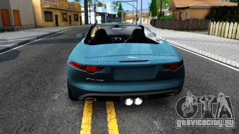 Jaguar F-Type для GTA San Andreas вид сзади слева