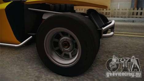 GTA 5 Invetero Coquette Custom для GTA San Andreas вид сзади