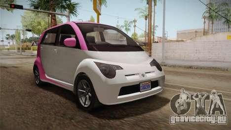 GTA 5 Benefactor Panto 4-doors IVF для GTA San Andreas