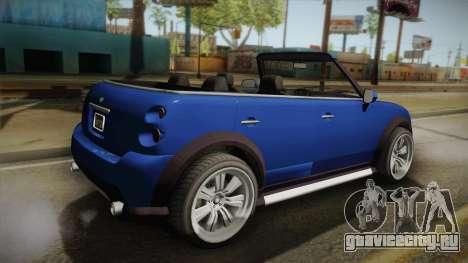 GTA 5 Weeny Issi Countryboy Cabriolet для GTA San Andreas вид слева