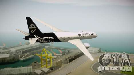 Boeing 787 Air New Zealand White Edition для GTA San Andreas вид справа