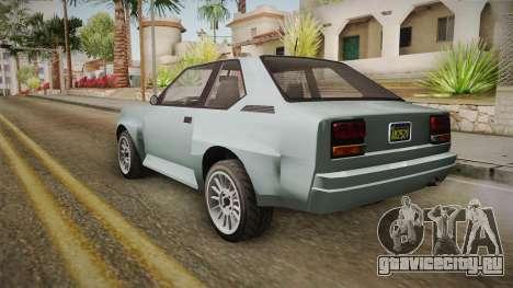 GTA 5 Obey Omnis Normal для GTA San Andreas вид сзади слева