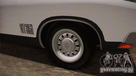 Ford Falcon 351 GT AU-spec (XB) 1973 IVF для GTA San Andreas вид сзади