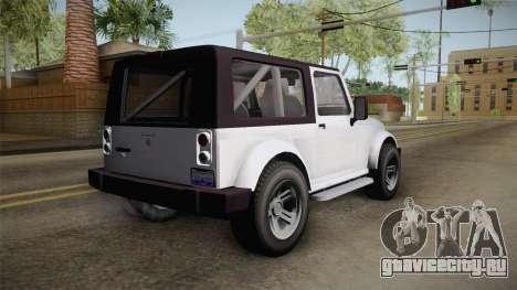GTA 5 Canis Mesa SWB для GTA San Andreas вид слева