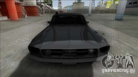 1967 Ford Mustang FBI для GTA San Andreas вид справа