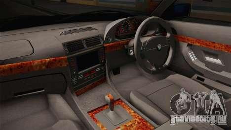 BMW 730d E38 для GTA San Andreas вид изнутри