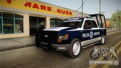 Ford F-150 Policia Municipal De Tijuana для GTA San Andreas вид справа