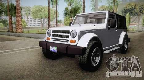 GTA 5 Canis Mesa SWB для GTA San Andreas