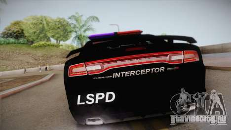 Dodge Charger SRT8 Police 2012 для GTA San Andreas вид изнутри
