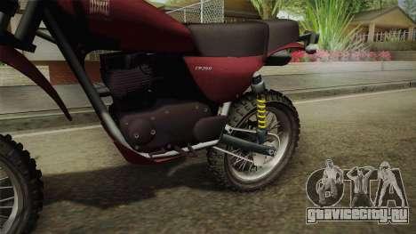 GTA 5 Dinka Enduro для GTA San Andreas вид сзади