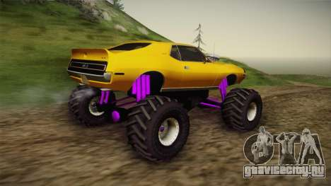 AMC Javelin AMX 401 1971 Monster Truck для GTA San Andreas вид сзади