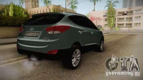 Hyundai Tucson 2015 для GTA San Andreas вид справа