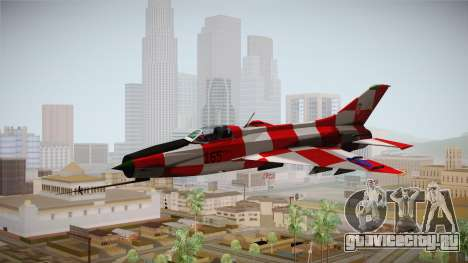 MIG-21 Kockica для GTA San Andreas вид сзади слева