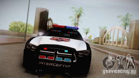 Dodge Charger SRT8 Police 2012 для GTA San Andreas вид сзади