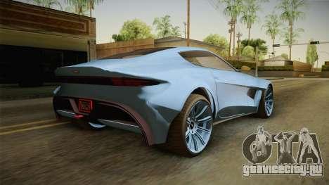 GTA 5 Dewbauchee Specter Custom для GTA San Andreas вид слева