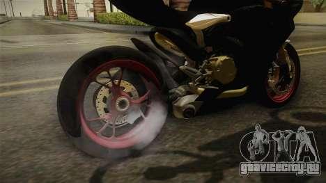 Ducati 1299 Panigale S 2016 Anniversary для GTA San Andreas вид изнутри