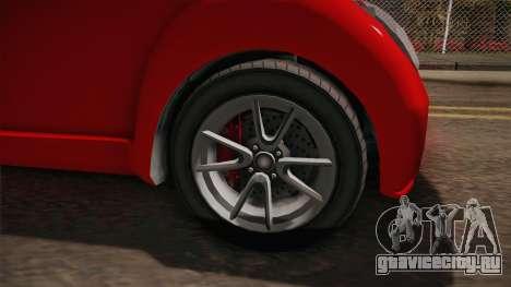 GTA 5 Benefactor Panto 4-doors для GTA San Andreas вид сзади