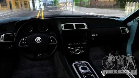 Jaguar F-Type для GTA San Andreas вид изнутри