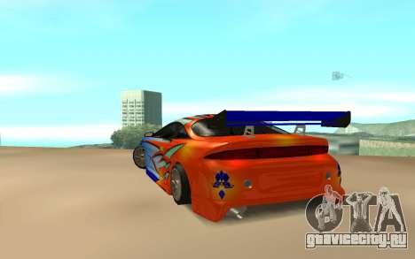 Mitsubishi Eclipse для GTA San Andreas вид сзади слева