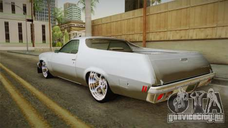 Chevrolet El Camino 1973 для GTA San Andreas вид слева