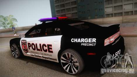 Dodge Charger SRT8 Police 2012 для GTA San Andreas вид слева
