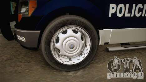 Ford F-150 Policia Municipal De Tijuana для GTA San Andreas вид сзади
