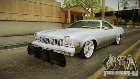 Chevrolet El Camino 1973 для GTA San Andreas вид сзади слева