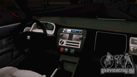 Peugeot 106 GTI для GTA San Andreas вид изнутри