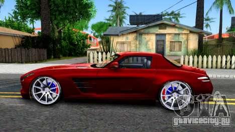 Mercedes Benz SLS AMG 6.3 2011 для GTA San Andreas вид слева