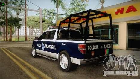 Ford F-150 Policia Municipal De Tijuana для GTA San Andreas вид сзади слева