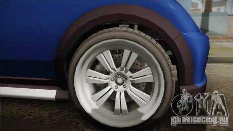 GTA 5 Weeny Issi Countryboy Cabriolet для GTA San Andreas вид сзади слева