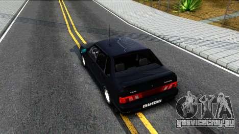 ВАЗ 2115 для GTA San Andreas вид сзади