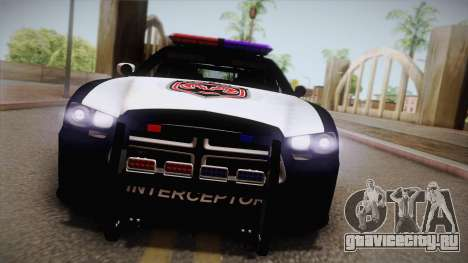 Dodge Charger SRT8 Police 2012 для GTA San Andreas вид справа