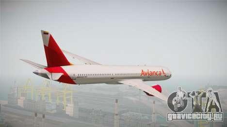 Boeing 787 Avianca для GTA San Andreas вид справа