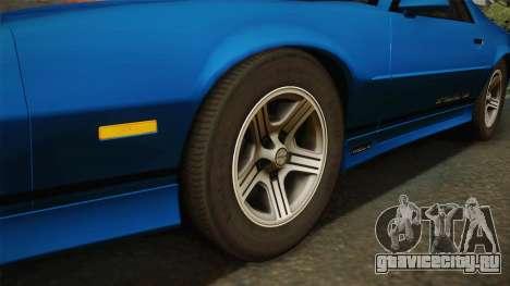 Chevrolet Camaro IROC-Z FBI 1990 для GTA San Andreas вид справа