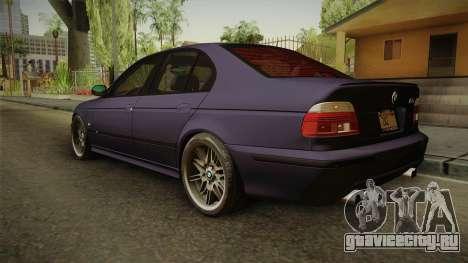 BMW M5 E39 Stock 2001 для GTA San Andreas вид слева