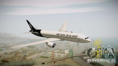 Boeing 787 Air New Zealand White Edition для GTA San Andreas вид сзади слева