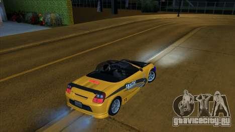 2004 Toyota MR-S Mk.III для GTA San Andreas вид справа
