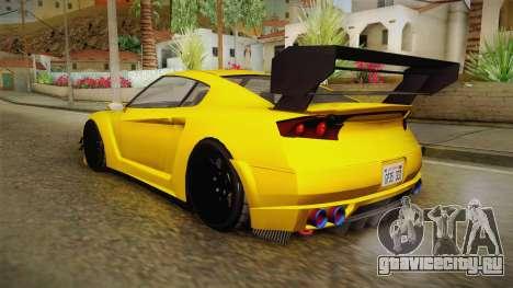 GTA 5 Annis Elegy RH8 Custom для GTA San Andreas вид слева