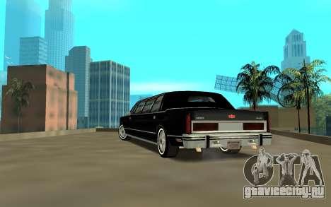 Lincoln 1988 для GTA San Andreas вид сзади слева