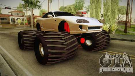 Toyota Supra Monster Truck для GTA San Andreas вид справа