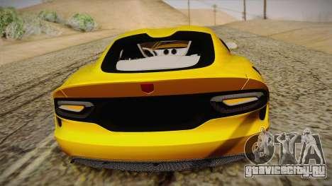 Dodge Viper SRT 2013 для GTA San Andreas вид сверху