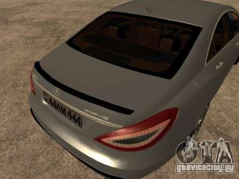 Mercedes-Benz CLS 63 AMG Armenian для GTA San Andreas вид сзади слева