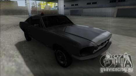 1967 Ford Mustang FBI для GTA San Andreas вид сзади